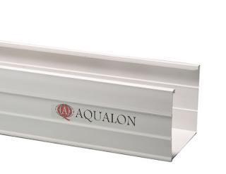 Pipa Talang Air Hujan Aqualon Warna PUTIH dengan Ukuran 14cm x 14cm x 4m.