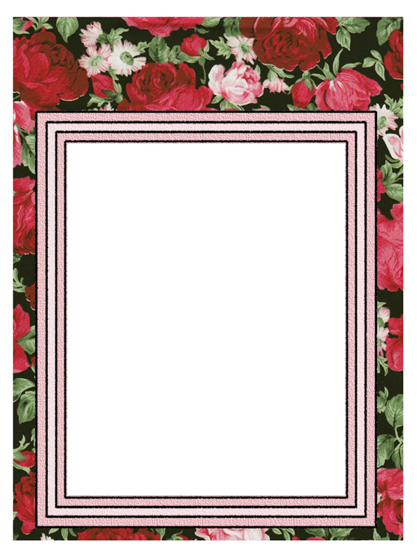 ArtbyJean - Paper Crafts Printable scrapbook layout pages - Red and