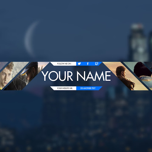 GAMERS YouTube Banner Template PSD (Photoshop CC + CS6) FREE