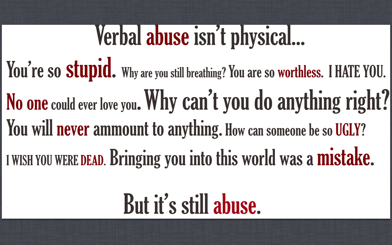 Verbal Bullying Words This poster is a call to action to put a stop to    Verbal Bullying Words