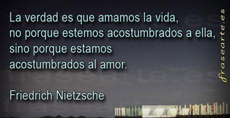 Frases de amor - Friedrich Nietzsche
