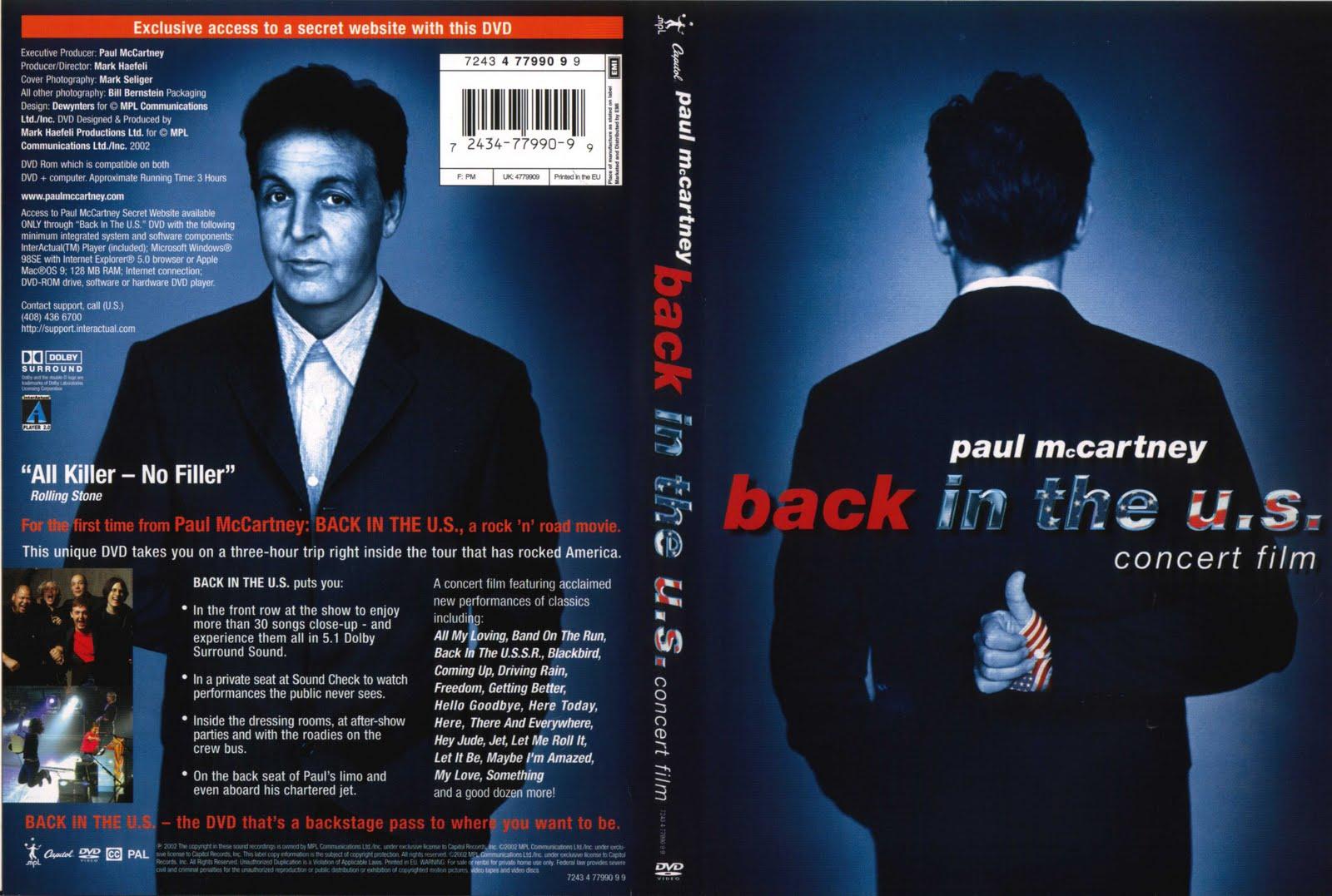 Paul Mccartney Back In The Usa Dvd Sealed 20
