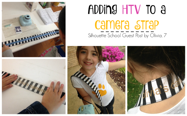 HTV, heat transfer vinyl, camera strap