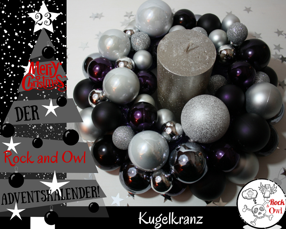 Kranz Christbaumkugeln.Rock And Owl Blog 23 Ein Kranz Aus Christbaumkugeln