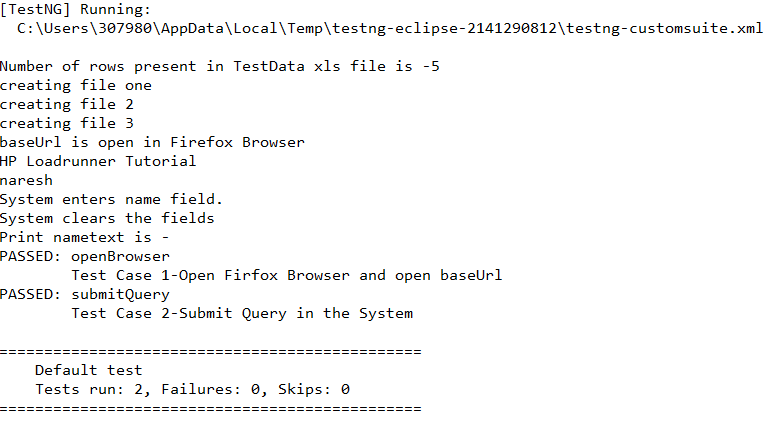 How To write Test Case is PASS or FAIL using Selenium