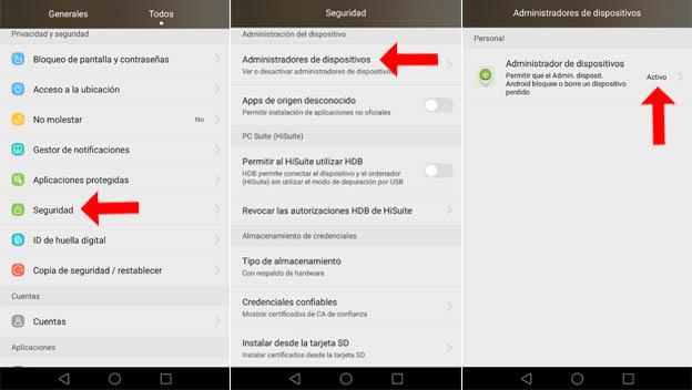 Resultado de imagen para Activar remotamente dispositivo movil android