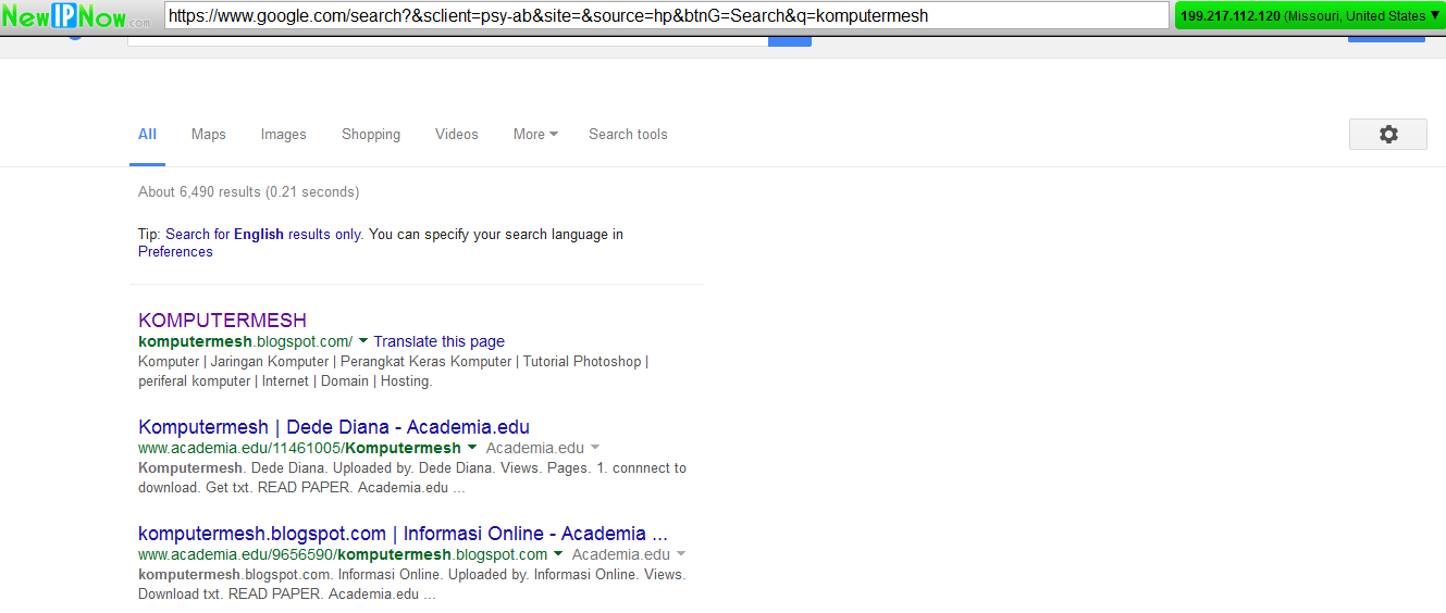 2 Cara Mengganti IP Address Browser Chrome/Mozilla - Cektutorial.com