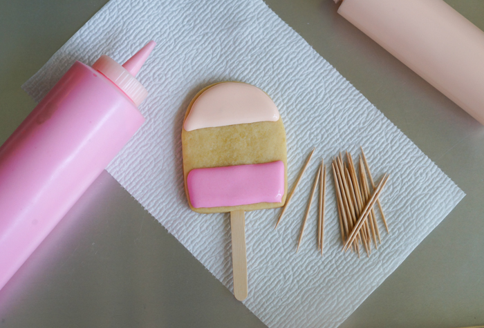 ice cream pops decorated cookies tutorial
