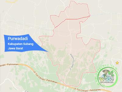 PETA : Kecamatan Purwadadi, Kabupaten Subang, Jawa Barat