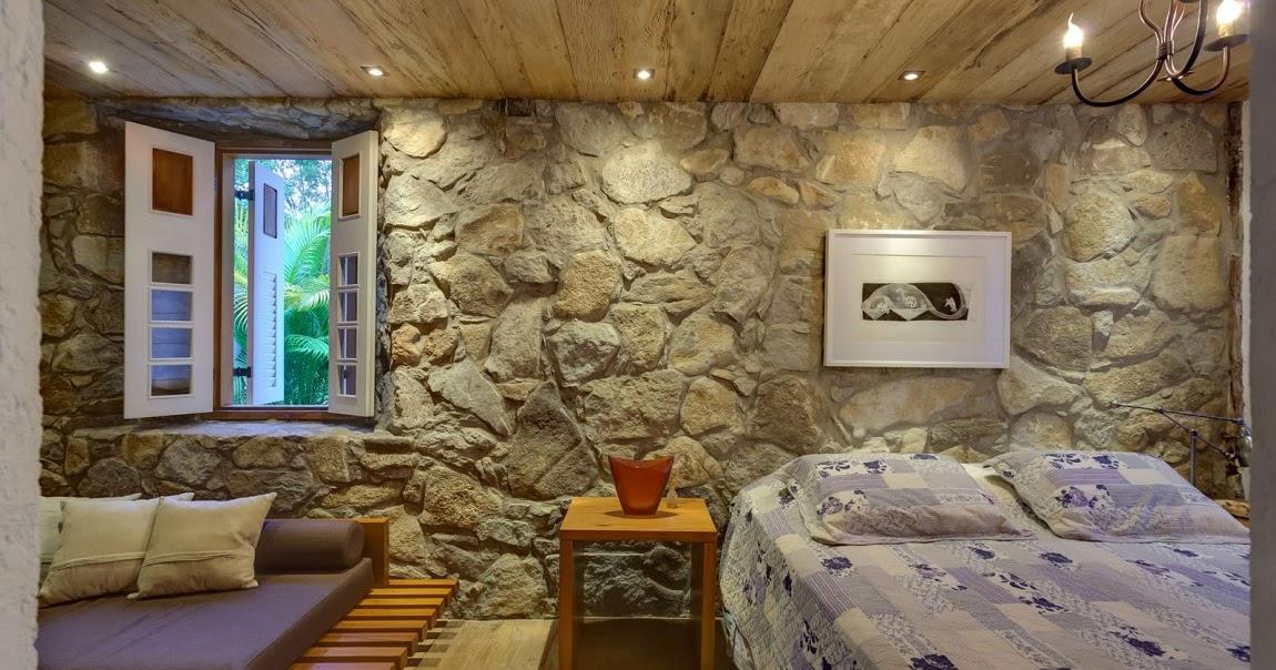 Como decorar dormitorios con paredes de piedra gu a y - Decoracion paredes dormitorios ...
