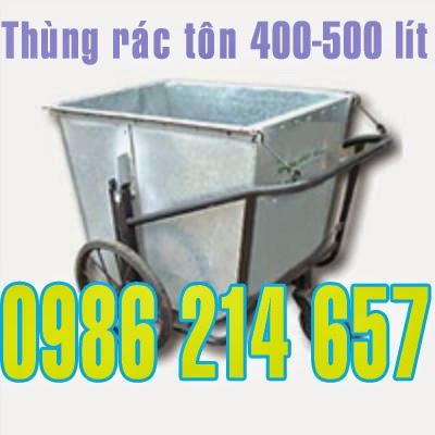 thùng rác tôn 500 lít
