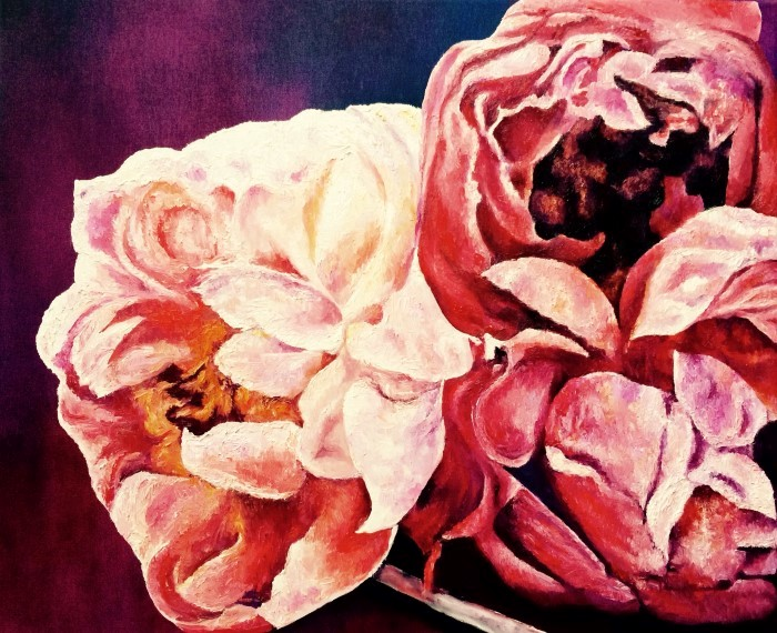 Картины цветов. Художники Дании. Leila Holberg
