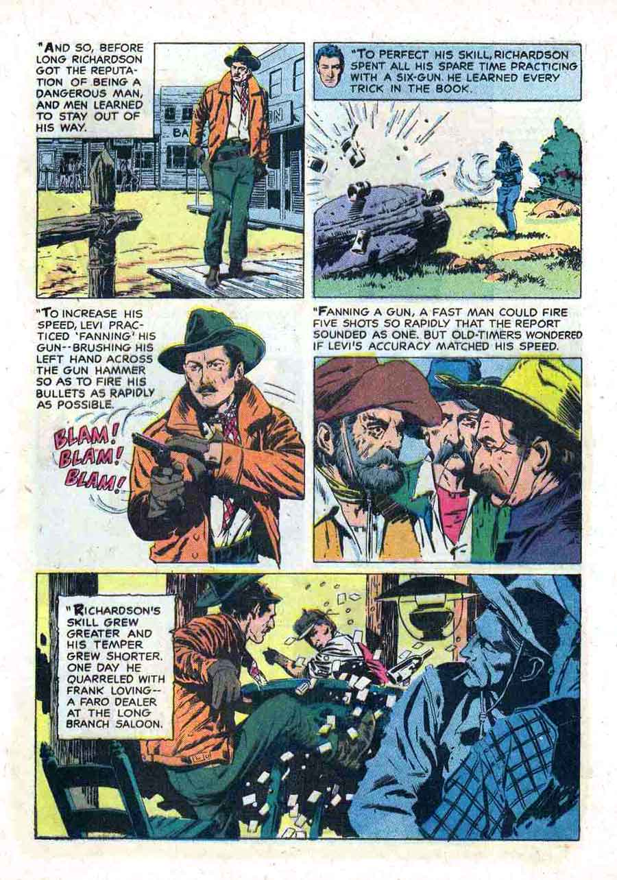 Gunsmoke v2 #8 golden silver age comic book page art by Al Williamson