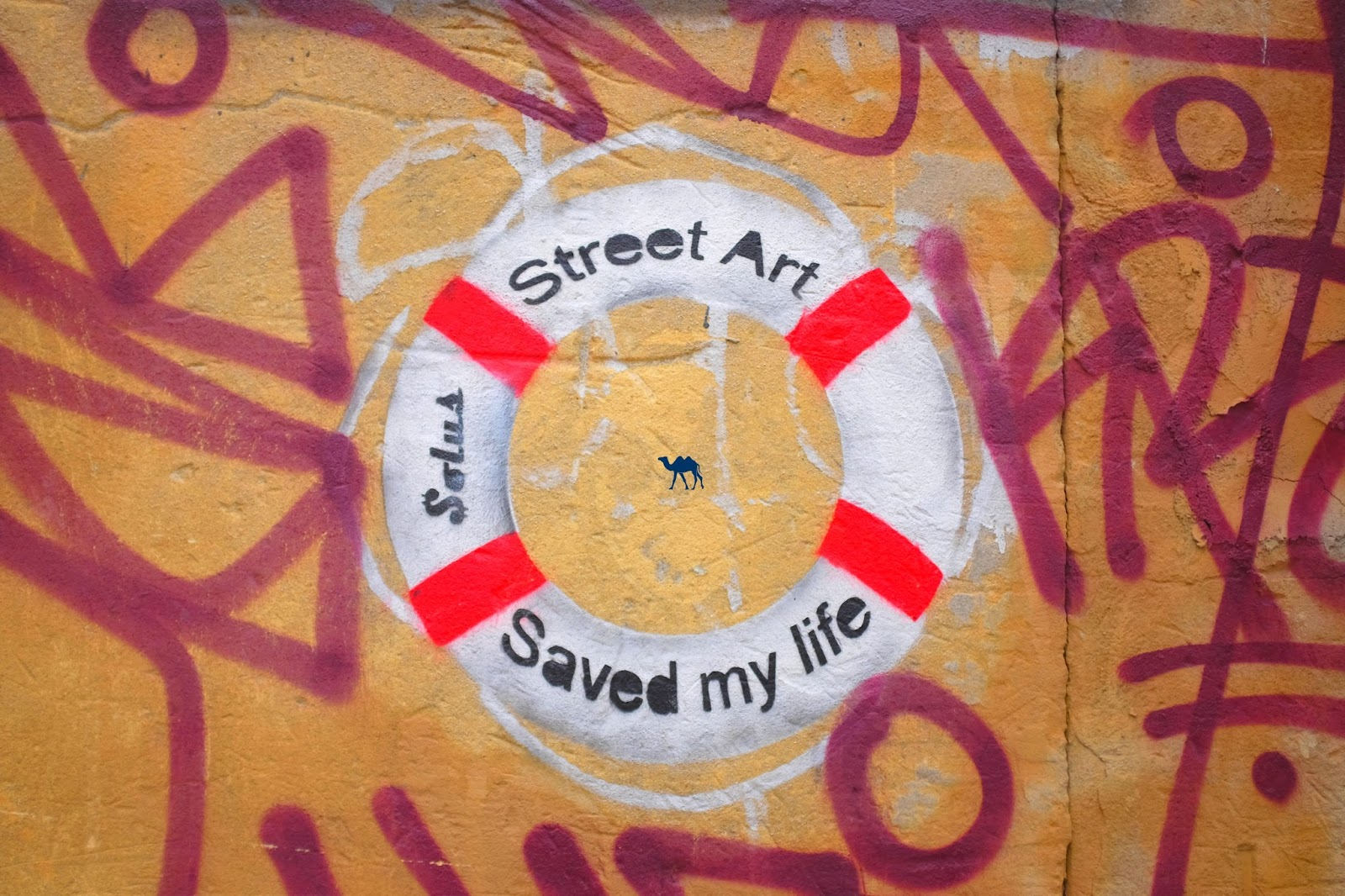 Street Art saved my life - Solus - Le Chameau Bleu