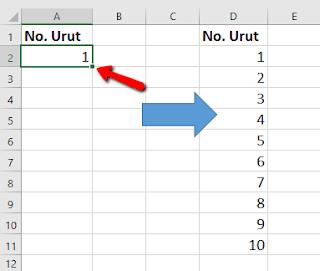 Tips dan Trik Excel Cara Entri nomor deret dengan Cepat
