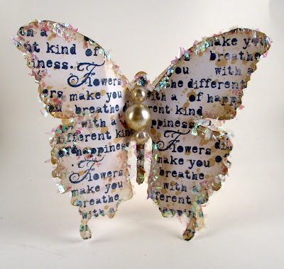 Sizzix Layered Butterfly Wendy Vecchi Art for the Jar Hydrangea for the Funkie Junkie Boutique