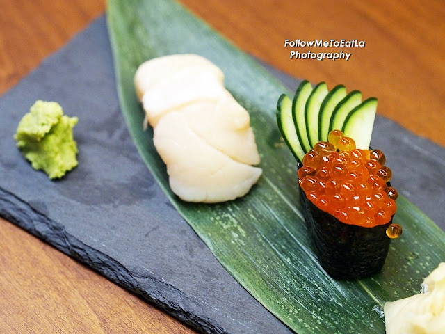 Nama Hotate Sushi  RM 15 & Ikura Gunkan RM10