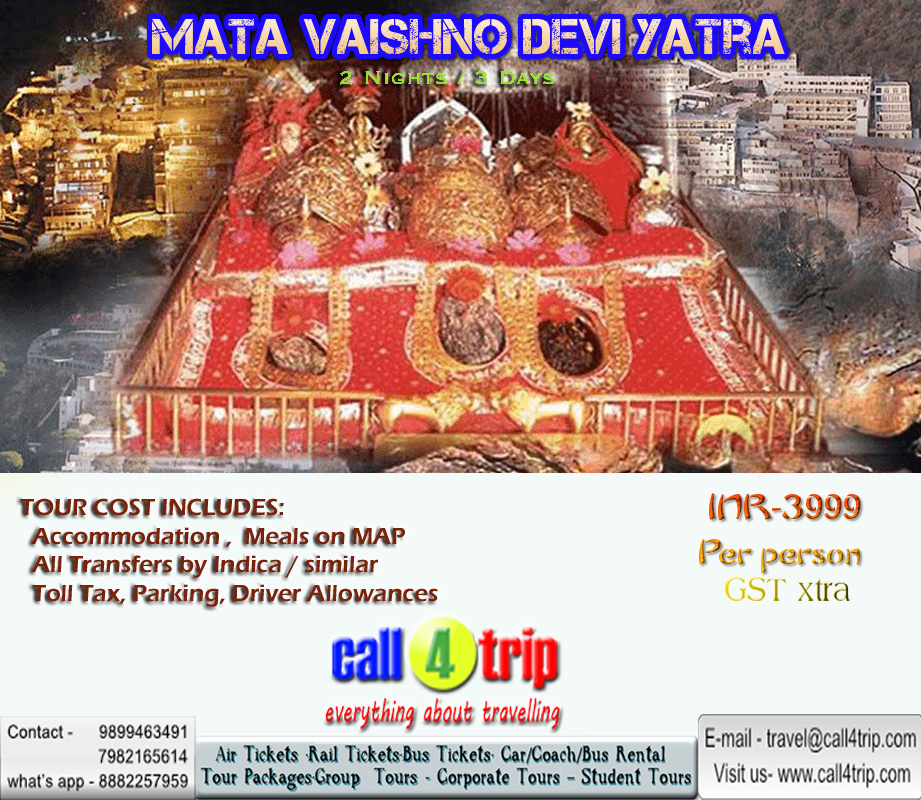 helicopter services to vaishno devi with Mata Vaishno Devi 2 Nights 3 Days on 529355 moreover Bhawan further Mata Vaishno Devi Yatra 54697651 furthermore carcoachrentalindia further Shri Ek Dant Travel Planners 1799.