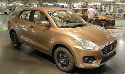 2017 Maruti Suzuki Dzire Sherwood Brown colour