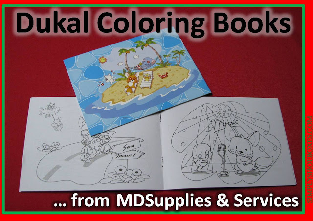 Dukal Coloring Book review:  perfect size for an OCC shoebox.