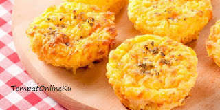 kentang muffin keju