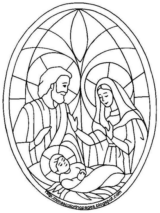 Pesebre en Falso Vitral VITRALES NAVIDEÑOS Pinterest Glass - new simple nativity scene coloring pages