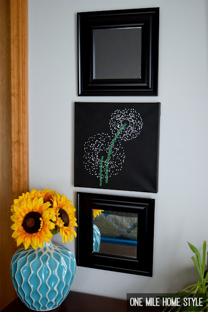 How to Create Your Own Hand Embroidered Dandelion Wall Art - One Mile Home Style
