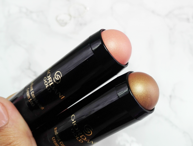 Oriflame Giordani Gold Radiant Complexion Cream Stick Coral Glow and Bronze Glow