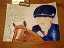 Zara Phillips equestrian sketch by Gloria Poole of Missouri