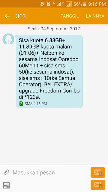 Cara Cek Kuota Internet Indosat Ooredoo 12