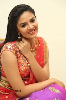 Anchor Srimukhi Pictures in Half Saree at Aatadukundam Raa Movie Audio Launch  0113