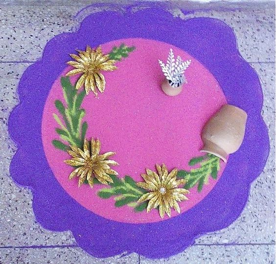 Simple Rangoli design for diwali