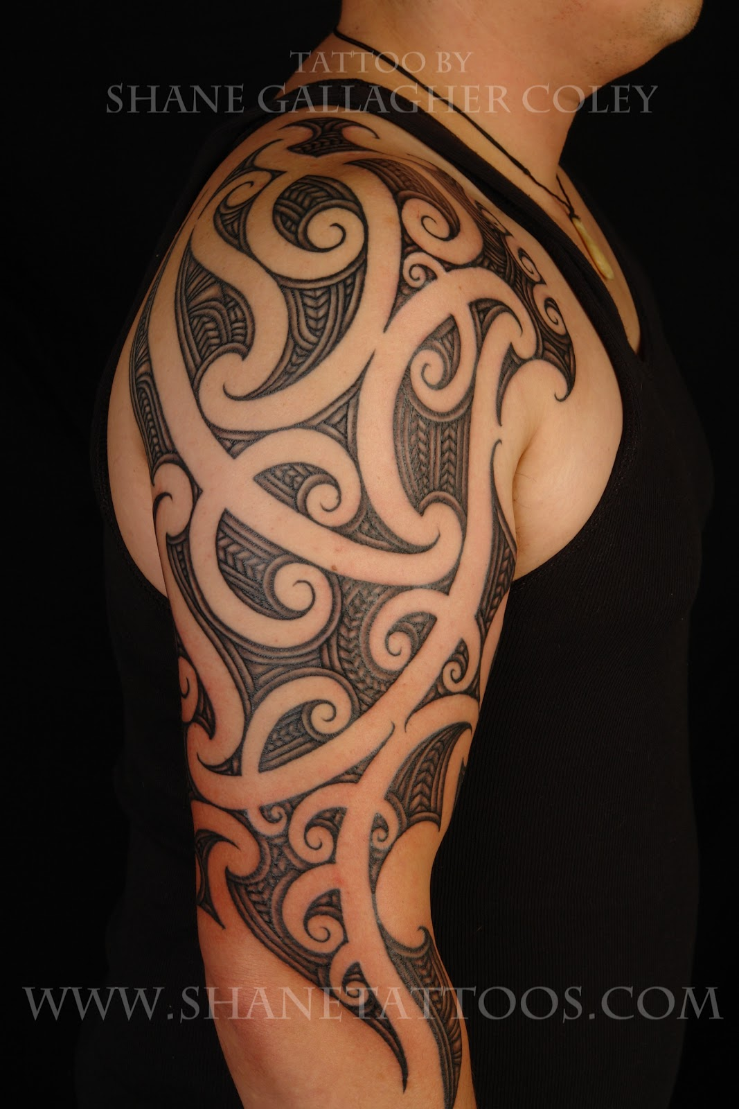 maori polynesian tattoo maori half sleeve on rani. Black Bedroom Furniture Sets. Home Design Ideas
