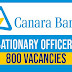 Canara Bank Recruitment 2018-Apply online 800 probationary officer post before last date