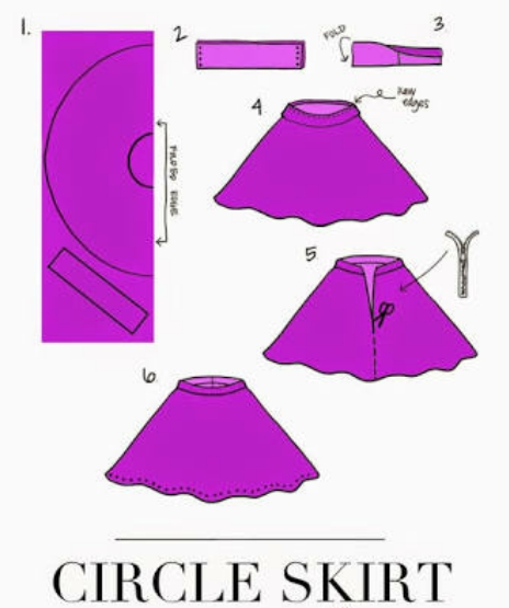 How To Cut Circle Skirt How To Sew Circle Skirt How To Cut And Magnificent Circle Skirt Pattern