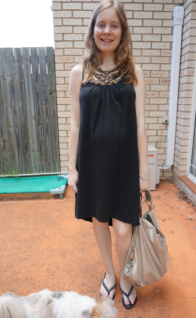 away from blue second trimester dressing the baby bump little black dress