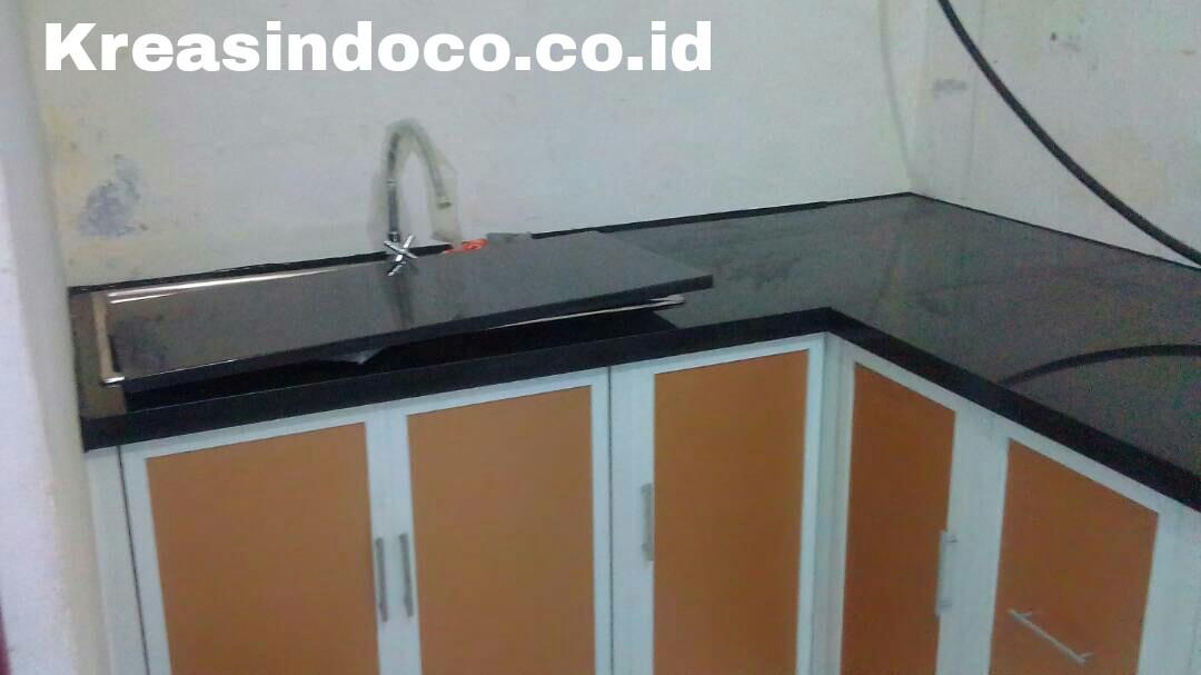 Kitchen set aluminium pemasangan hollywood tanah baru for Pemasangan kitchen set