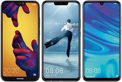 Huawei P20 Lite vs Huawei P Smart+ vs Huawei P Smart (2019)