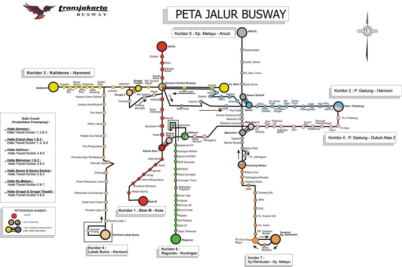 Ajeng Anggraeni: Peta RUte Busway