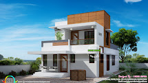 Small Double Floor Modern House Plan - Kerala Home Design