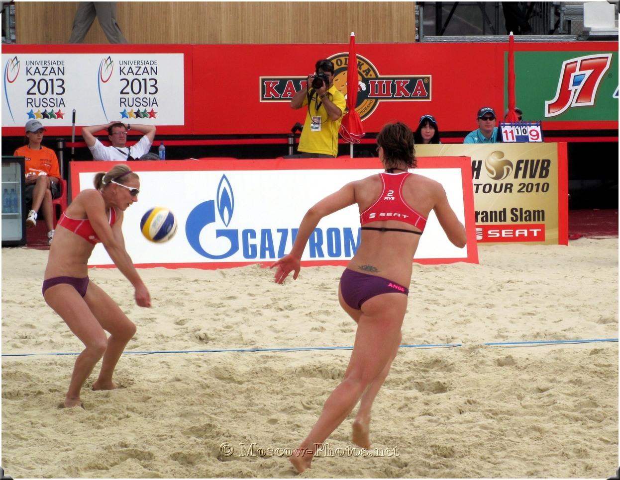 Beach Volleyball Serve Reception