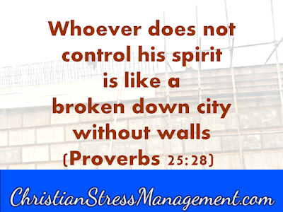Whoever does not control his spirit is like a broken down city without walls Proverbs 25:28