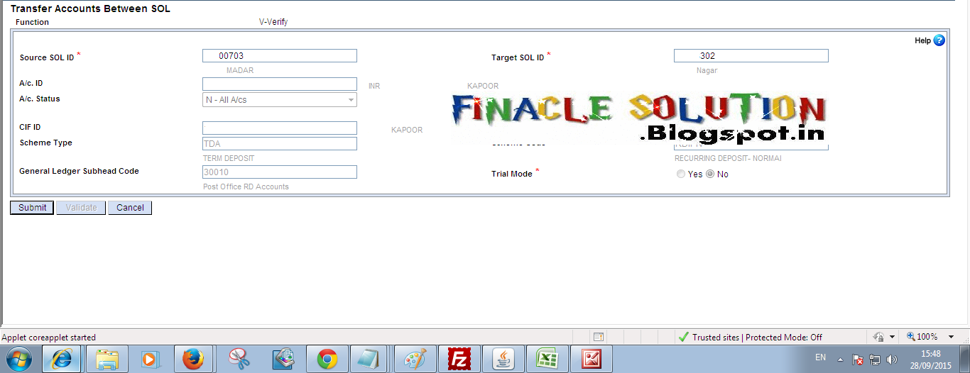 How To Find Misplace Tran Id Of Account Transfer In Hacxfsol Transaction In Dop Finacle Finacle Solution