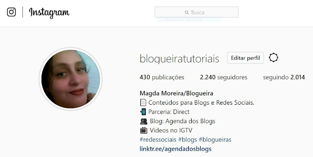 Perfil do Instagram Magda Moreira