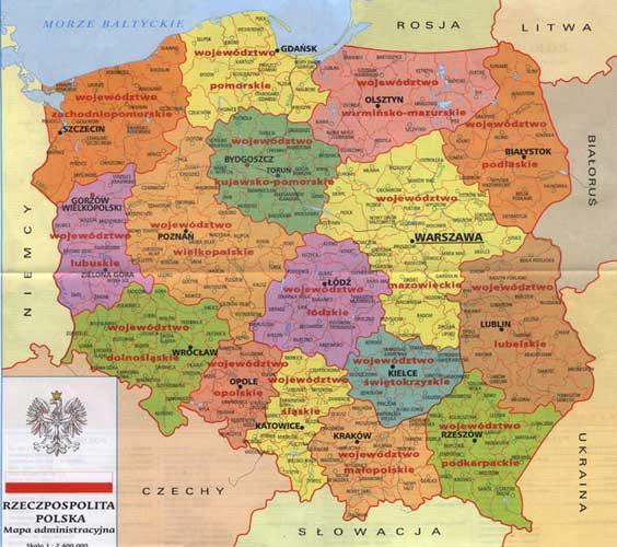 Kort Over Europa Billede Kort Over Polen Land