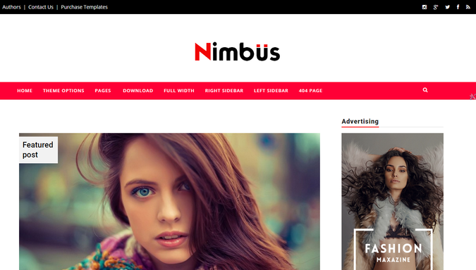 Nimbus responsive template