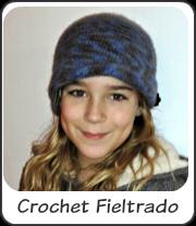Gorro crochet fieltrado