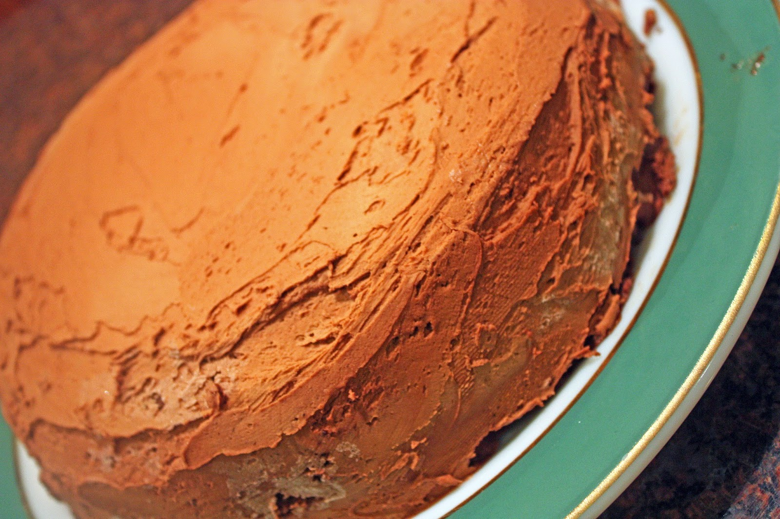 vegan sweet potato layer cake candied pecans chocolate frosting