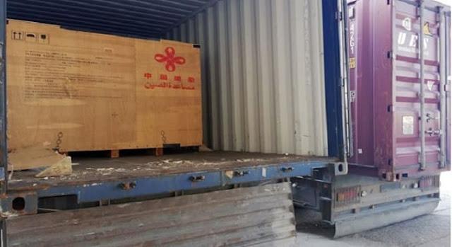 800 محولة كهرباء هدية من الصين إلى سورية.