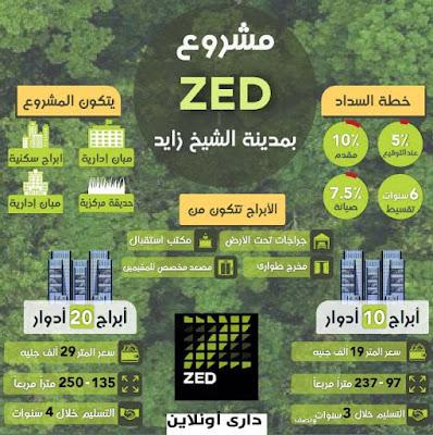 """أورا للتطوير العقاري تطلق مشروع """"زيد"""" ابراج ساويرس في الشيخ زايد"""